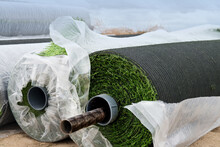Rolls Of Green Synthetic Tuft ...