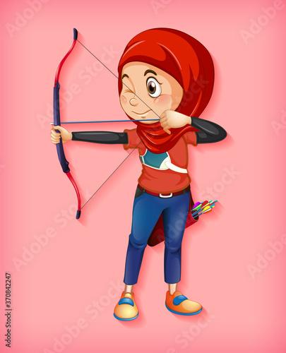 Photo Female muslim archer character