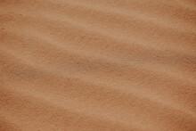 From Above Sandy Dune Desert Landscape In Morocco