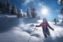 Senior Man During Ski Tour, In...