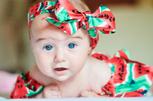 Portrait Of Dressed Baby Girl ...