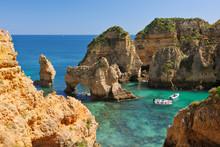 Portugal, Lagos, Faro, View Of...