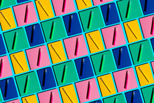 Pattern Of Colorful Notebooks ...