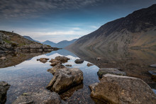 Sunrise Over Wast Water A Lake...