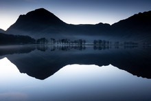 Dawn Around Buttermere, The Lake In The English Lake District In North West England. The Adjacent Village Of Buttermere Takes Its Name From The Lake.