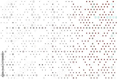 Obraz Light Red vector pattern with spheres. - fototapety do salonu
