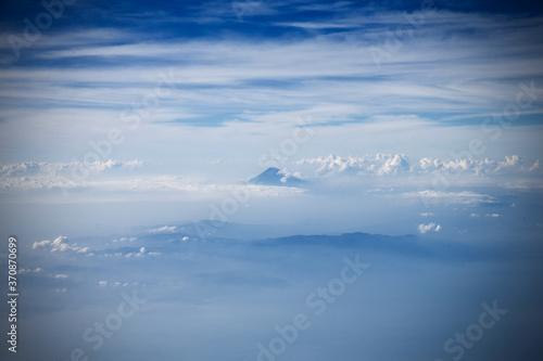 富士山と山と空と海 Billede på lærred