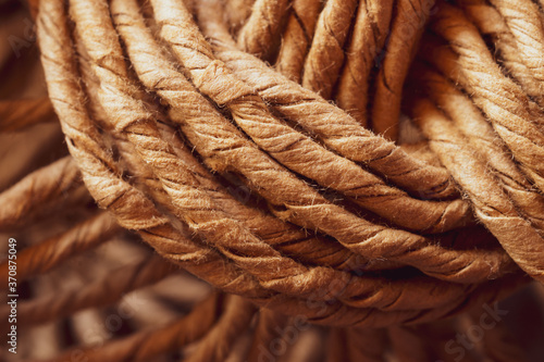 Wicker fibers macro. weaving close up. abstract woven background