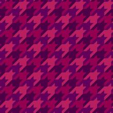 Classic Geometric Seamless Pattern. Houndstooth Ornament. Elegant Fashion Surface Print. Mosaic Checkered Background