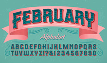 A Colorful Valentine's Day Style Alphabet; Ornate Lettering Font With Stripes And Shaded 3d Effects. Good For Greeting Cards, Valentine Banners, And Romantic Themes.