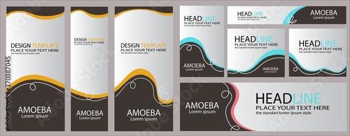 Vector abstract design banner web template Canvas Print