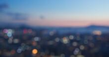 Bokeh Of City View At Night