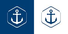 Logotipo Estilo Nautical. Icon...