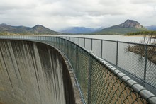 View Over The Dam Wall At Lake Moogerah