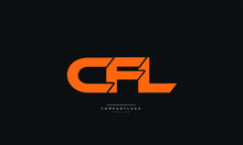 CFL Letter Business Logo Design Alphabet Icon Vector Symbol