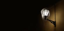 Frozen Street Lamp With Hangin...