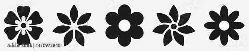 Flower icons set isolated on white background. Flower simple icon. Vector illustration