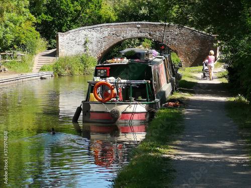 Fotomural generic english canal stratford / grand union warwickshire england uk