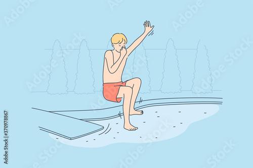 Fotografia, Obraz Sport, fun, recreation, holiday, vacation concept
