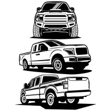 Pick Up Truck Logo Design Vector