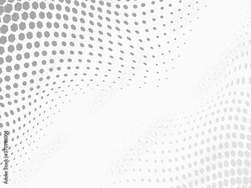 Photo white and grey simple pentagon waving halftone background for pattern, wallpaper, label, banner, cover, texture, wrapping etc