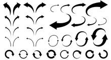 曲線矢印のセット(モ...