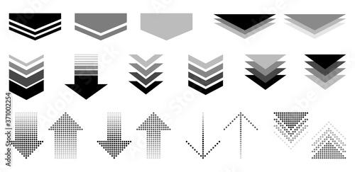 Fotografering シンプルな矢印のセット(モノクローム)
