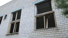 The Broken Glass Windows Of The Old Barracks In Saaremaa Estonia