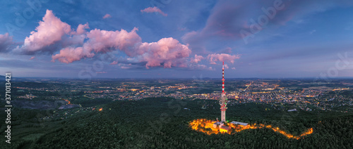 Foto TV tower in Pecs Hungary