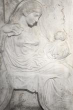 Antique Religious Bas Relief I...