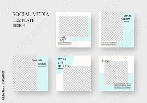 Social media template Fototapete