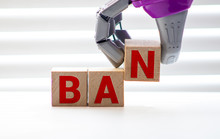 Word Ban Made Of Wooden Letter...