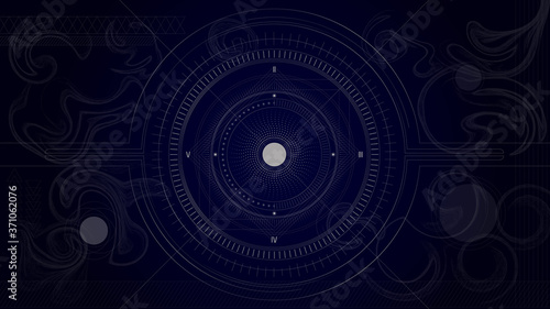 Solar system. Line art. Abstract. Tapéta, Fotótapéta