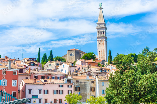 Beautiful view of Rovinj old town, Croatia Fototapete