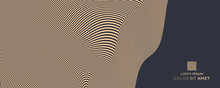 Pattern With Optical Illusion. Abstract Striped Background. 3d Vector Illustration.