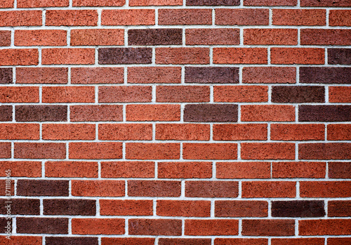 Photo red brick wall background