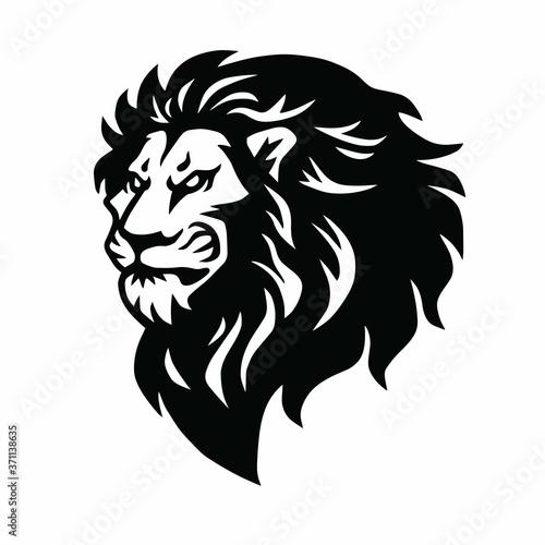 Fototapety, obrazy: Lion Head Logo Mascot Vector Illustration