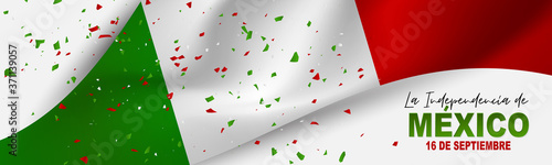 Fotografia Mexico Independence Day banner