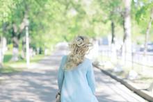 Vintage Adult Girl Summer Tint / Happy Adult Woman Having Fun And Enjoys Summer Summertime Girl