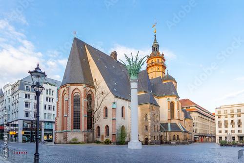 Fotografiet Nikolaikirche in Erinnerung an die Friedliche Revolution in Leipzig