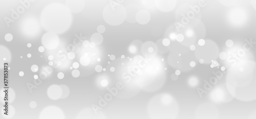 White lights bokeh, defocus glitter blur on gray background Canvas-taulu