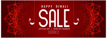 Happy Diwali Red Sale Decorative Banner Design