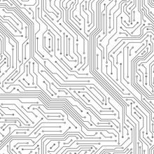 Seamless Circuit Board. Digita...