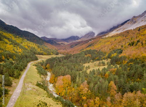 Ravine of Petraficha, Zuriza, western valleys, Pyrenean mountain range, province Wallpaper Mural