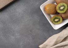 Sliced kiwi In A Plate O...