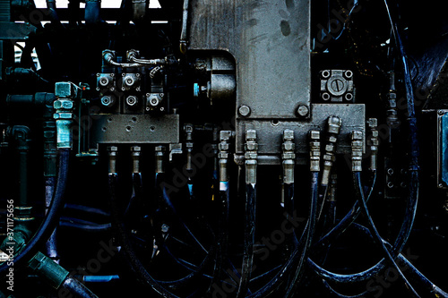 Fototapeta Pictures that image machines, equipment, engineering, industry, factories, military, etc