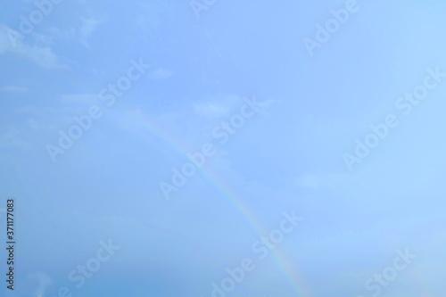 Obraz na plátně 雨上がりの副虹