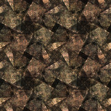 Abstract seamless watercolor pattern. Stylized natural motifs. The illustration can be used for printing, textiles, wrapping paper, clothing, postcards and decoration. Brown, ocher - 371179699