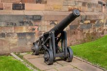 Medieval Metal Canon Near Carlisle Citadel