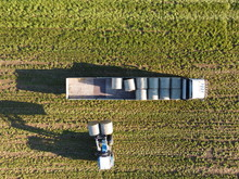 Hay Bale Loading Aerial Photo